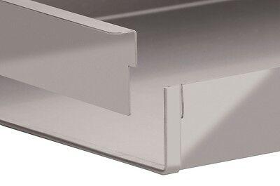 Schnittkuchenblech Backblech Küchenblech 58x20x5 cm mit Rand mit Steckschiene