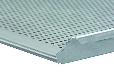 Backblech 60/40 3x2 cm gelocht Alublech Profiqualität Rand drei Seiten 90°
