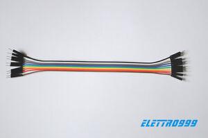 10-Cavi-Jumper-20cm-Passo-2-54mm-maschio-maschio-per-Arduino-e-Breadboard