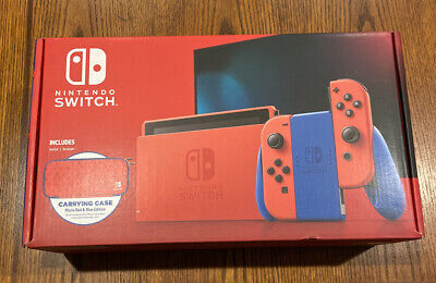 Nintendo Switch Mario Red & Blue Limited Edition Console Bundle 35th Anniversary