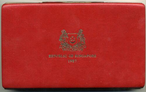 SINGAPORE 1987 6 PIECE STERLING PROOF SET