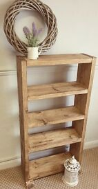 Chunky rustic reclaimed wood shelves / bookcase