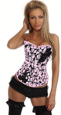Sexy Rosa Korsett (Sexy korsett burleske gürtel intimen dessous damen rosa c108)