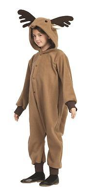 CHILD REINDEER COSTUME DEER RUDOLPH ANIMAL PAJAMAS JUMPSUIT FUNSIE BOYS BROWN