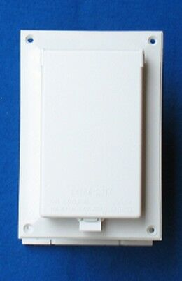 Arlington IN BOX DBVR131W-1 Low Profile Electrical Box with Cover - White