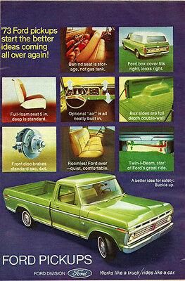 1973 Classic Truk Ad, Ford Pickup Trucks, lime green ' 022114 American Classic Lime Green