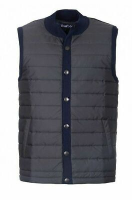 Barbour Men's Navy Blue Essential Quilted Button Snap Gilet Vest MKN0920NY91