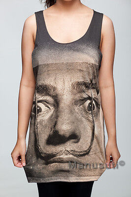 Salvador Dali Surrealism Artist WOMEN TANK TOP T-SHIRT Vest Dress Size S M