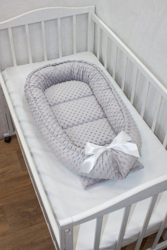BAMBINIWELT Babynest Kuschelnest Kokon Baumwolle Babybett  LAFEL