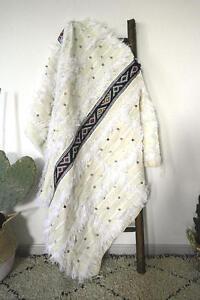 BEAUTIFUL Moroccan Berber Wedding Blanket, Rug Handira Hand Made *NEW 60
