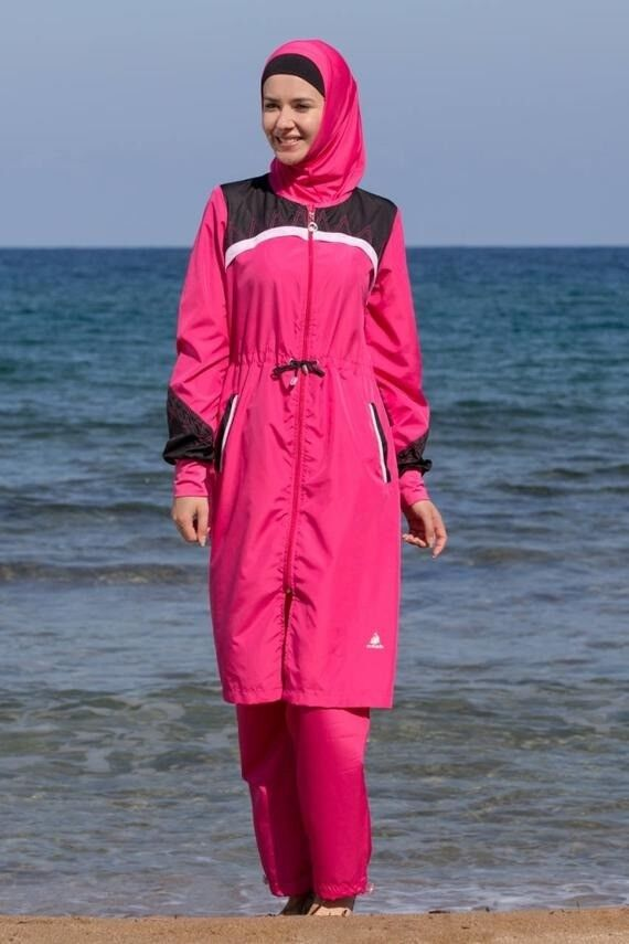 98be0ba2f496a Adabkini Verda, Islamic Swimsuit Burkini, 4-piece with swimming cap included