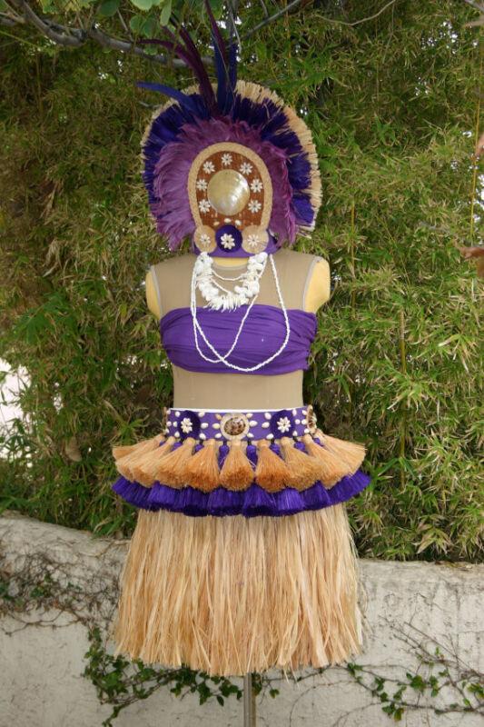 More Than Just Tassels ~ Full Tahitian Costume Set Decorated Skirt & Headdress