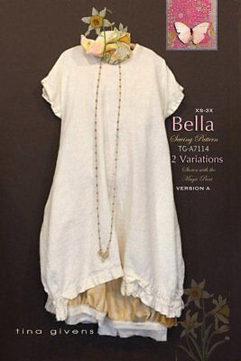 Bella  TG-A7114 Sewing Pattern  by Tina Givens Lagenlook Style! Sz. 2- 3X