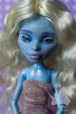 Monster High Doll Custom Repaint OOAK Abbey Bominable NUDE, NO WIG - Monster High Abbey Wig