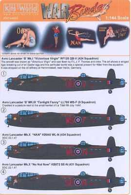 - Kits World Decals 1/144 AVRO LANCASTER British Bomber Nose Art