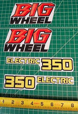 4pc Yamaha 1986 1987 BW350 BIG WHEEL 350 decals stickers graphics kit 86, 87 for sale  Shipping to South Africa
