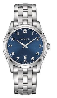 New Hamilton H38511143 Jazzmaster Thinline Blue Dial Stainless Steel Men's Watch