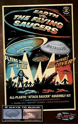 Earth vs the Flying Saucers UFO w/Light Silver Edition Atlantis Toy and (Toy And Hobby)