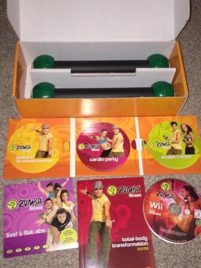 Zumba Fitness Kit 4 DVD, 6 Workouts, Toning Sticks, Bonus Wii Disc
