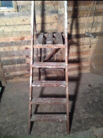 Large wooden step ladders ideal to upcycle