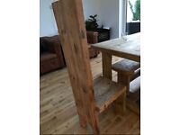 Rustic wooden carver chair. Unusual statement piece