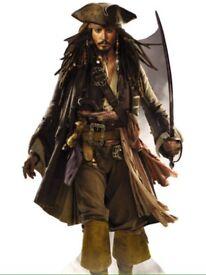 Life size Johnny Depp captain sparrow cardboard cut out,
