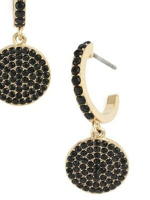Kate Spade Shine On Smoky Pave Drop Earrings NWT Clean Modern Chic Design -