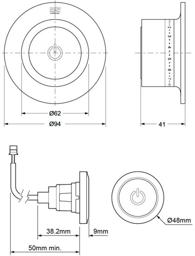 Mira Mode Dual thermostatic Mixer Shower High Pressure