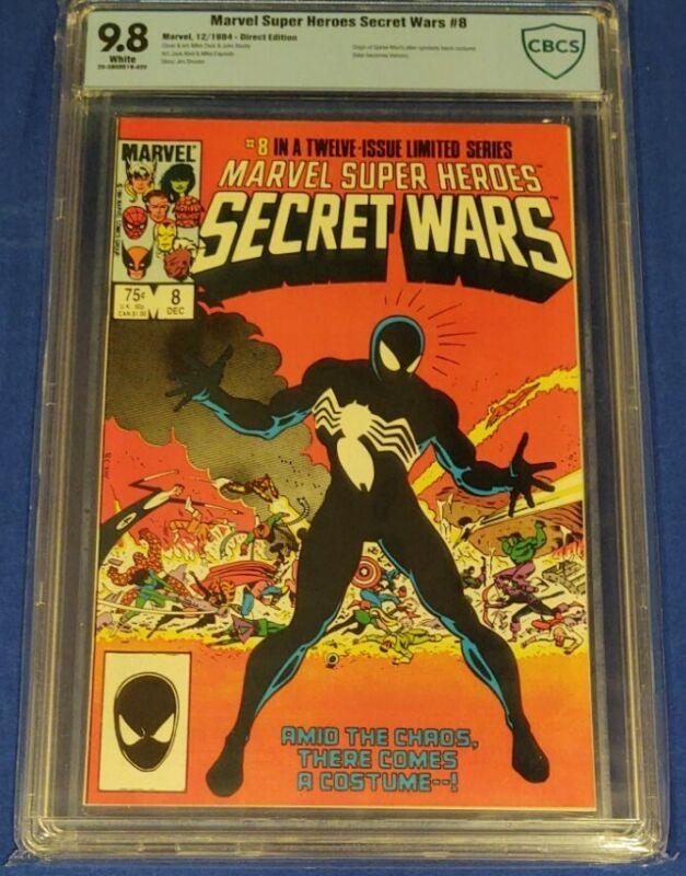 Marvel Secret Wars #8 - CBCS 9.8 White Pages - 1st Alien Symbiote not cgc