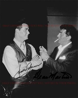 James Garner And Dean Martin Signed Autographed 8X10 Rp Photo