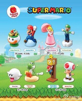 2016 Super Mario McDonalds Happy Meal Toys Completed Set 8 PCS NIP China