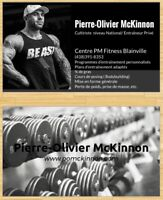 Entraineur privé certifié dans un magnifique gym privé