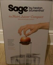 Brand New Boxed Sage by Heston Blumenthal the Compact Juicer Juicing Machine 900w - BJE200SIL