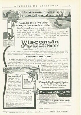 1915 WISCONSIN ROW BOAT MOTOR MARINE WOOD RIVER  JUNIOR PROPELLER 17097