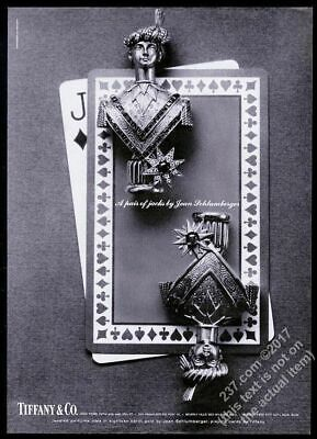 1965 Tiffany's jewelry Jean Schlumberger playing card Jack pin photo vintage ad