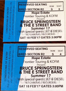 Bruce SpringsteenConcert Hope Estate Lavender Bay North Sydney Area Preview