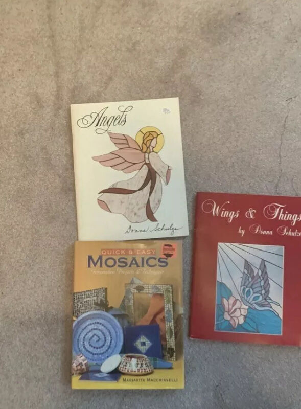 Lot Of  3, Stained Glass Pattern Books, Pre-owned