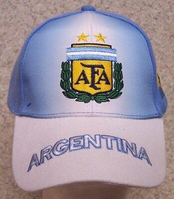 Embroidered Baseball Cap Soccer International Argentina Football Club NEW adjust (Argentina Cap)