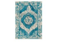 Brand new blue patterned rug