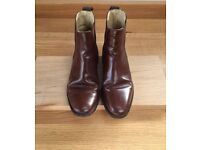 Men's Loake walnut/brown polished leather Chelsea boots 290T UK 7