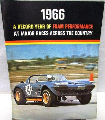 Original 1966 Fram Performance Brochure Racing NASCAR NHRA Petty Daytona Gurney