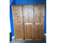 Triple Ikea pine effect wardrobe