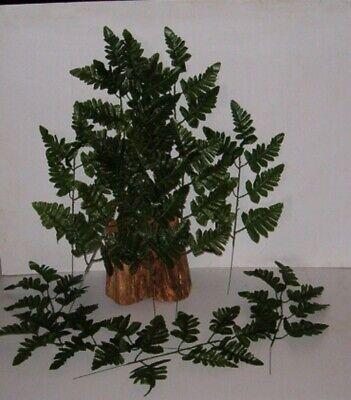 Silk Leather Leaf - 12  SILK LEATHER FERN  LEAF STEMS WHOLESALE ,CEMETARY / MEMORIAL, FREE SHIPPING