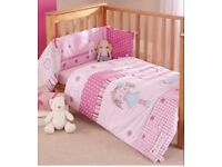 "Clair de Lune ""My Dolly"" Cot bed bedding"