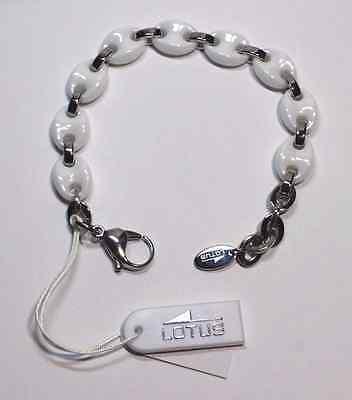 f0a500dff0b6 pulsera acero LOTUS STYLE calabrote blanco