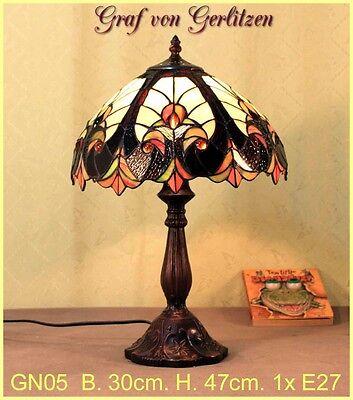 Graf von Gerlitzen Tiffany Tisch Lampe Leuchte Tiffanylampe Tischlampe GN05