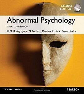 Abnormal Psychology,17e Global Edition by James N. Butcher and Jill M Hooley
