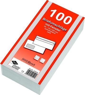 1000 (10x100St) Briefumschläge Din lang Fenster ()