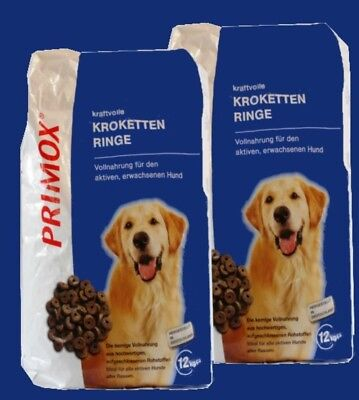 PRIMOX KROKETTEN RINGE 2x12kg aktive Hunde ohne Konservierungsstoffe Hundefutter