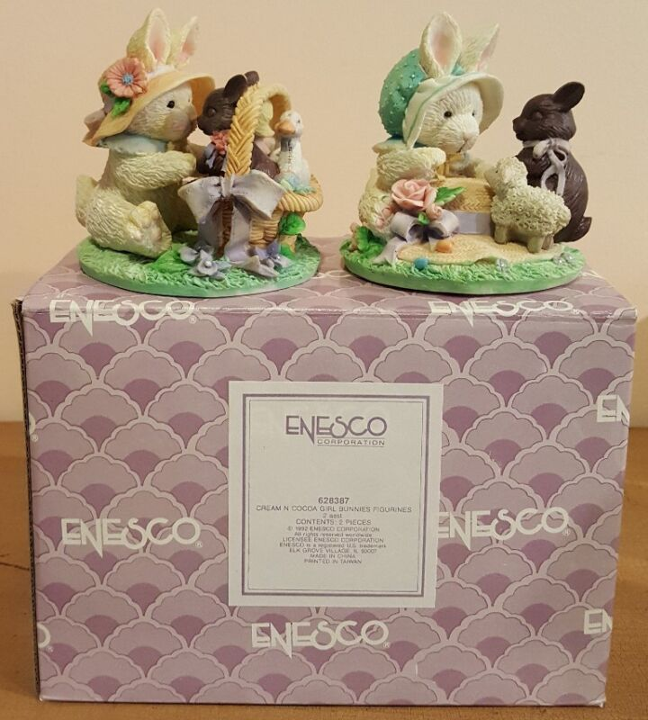 Enesco Cream N Cocoa  Set of Girl Bunnies !